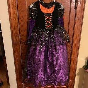 Other - NWT Youth 10/12 Purple Orange Witch Costume